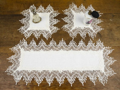 Raindrop Lace Dressing Table Set
