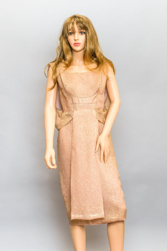 1950s Gold Lame' Dress