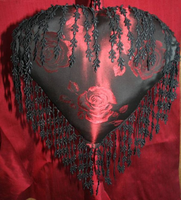 Ruby Rose Heart Cushion