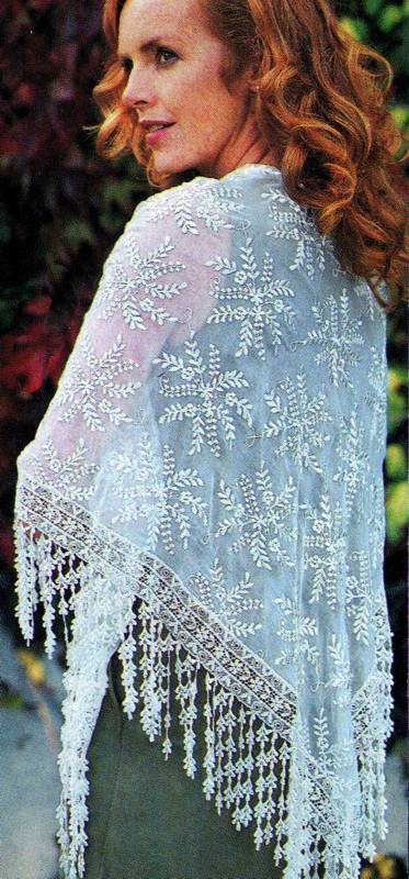 Drippy Lace Evening Shawl