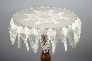 Silk Organza and Lace Tablecloth