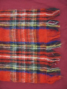 Royal Tartan Wrap  in Wool and Mohair
