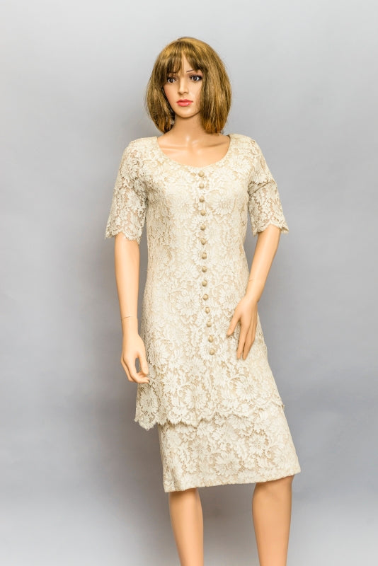 1930s Chantilly Lace Dress