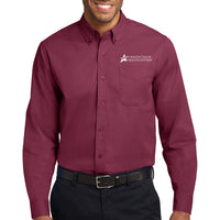 STHS Mens Button Down Long Sleeve- Burgundy