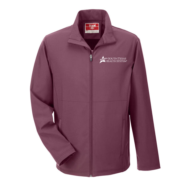STHS Mens Soft Shell Jacket- Sport Maroon