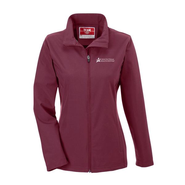 STHS Ladies Soft Shell Jacket- Sport Maroon