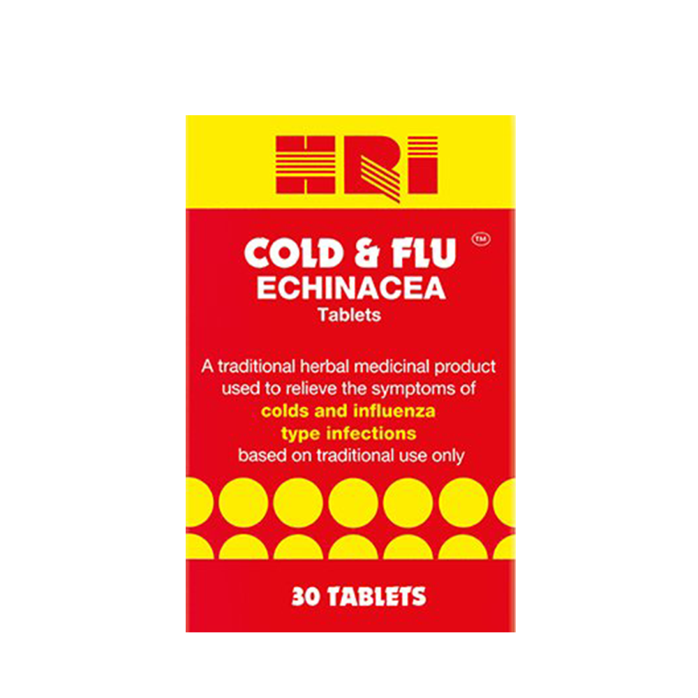 HRI Cold & Flu Echinacea - 30 tablets