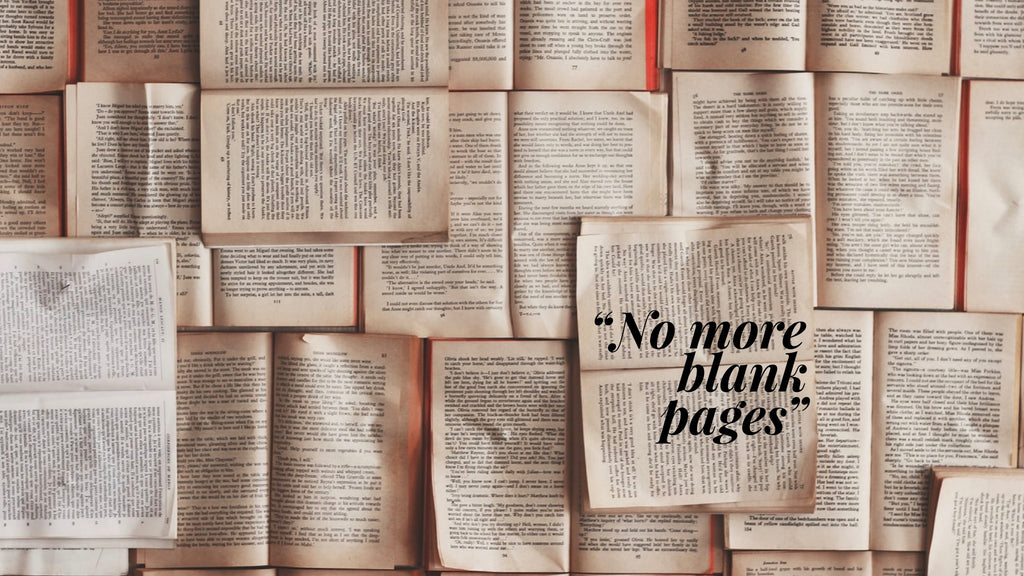 No More Blank Pages