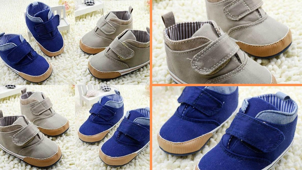 Camryn' Baby Soft Sole High-Top Crib Shoes