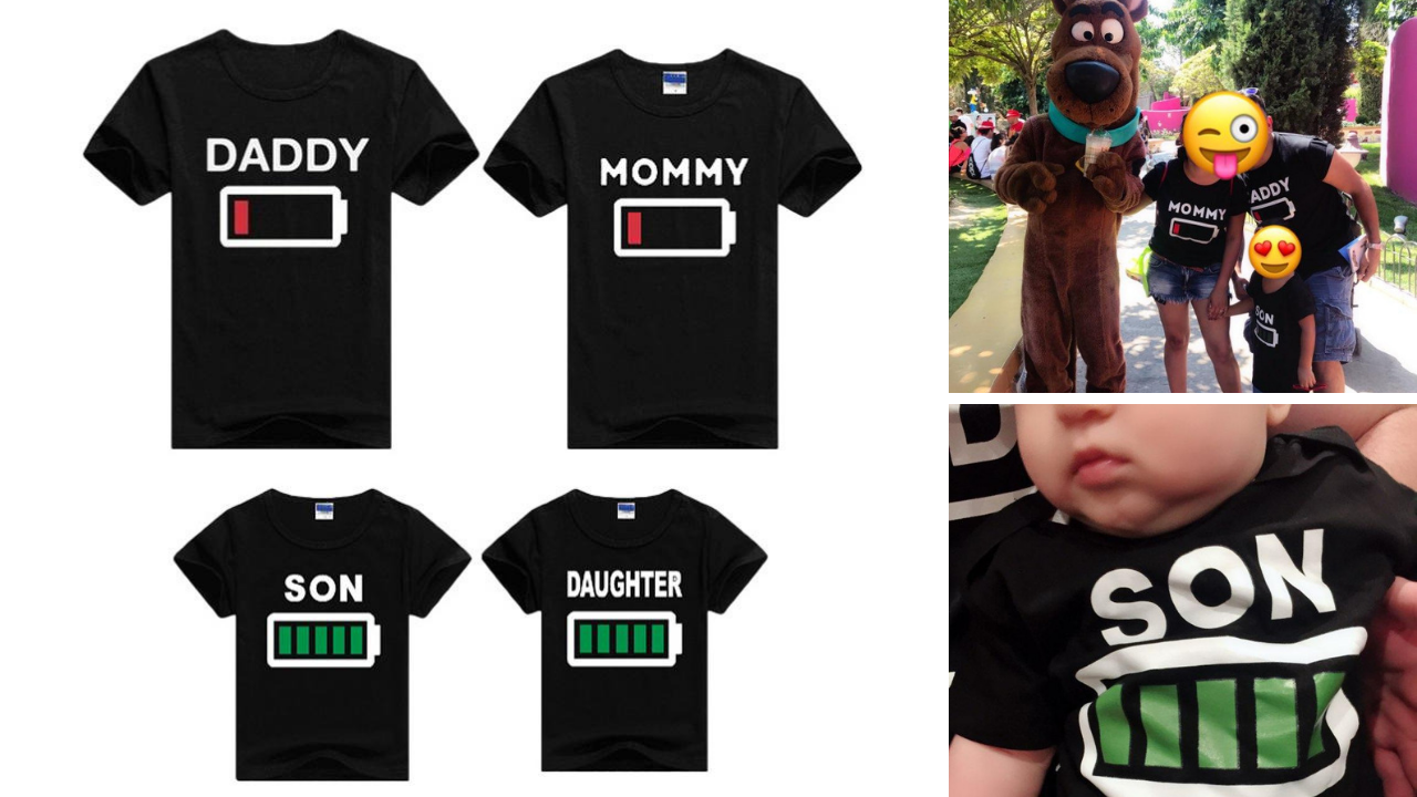 'Battery Life' Matching Family Shirts /Baby Rompers