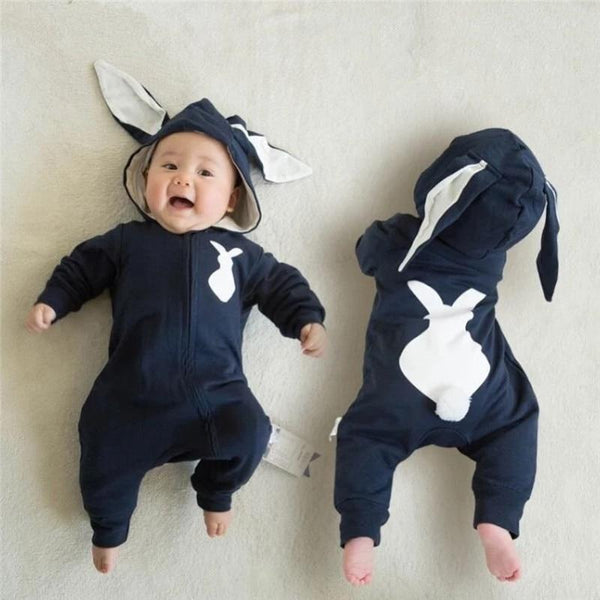 3D 'Big Bunny Brand' Hooded Jumpsuit