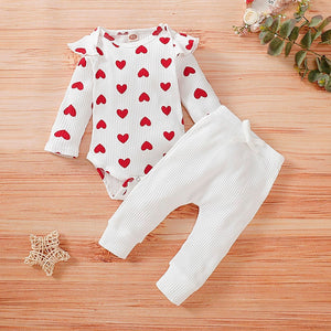 'Valentine' Onesie + Pants Set