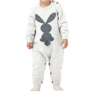 'Epicene' Overall Long Sleeve Baby Romper Set