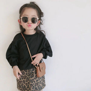 'Stylish' Toddler Girl Long Sleeve Tops +skirt Set