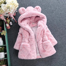 Load image into Gallery viewer, Baby Girl's Hooded Faux Fur Coat