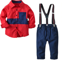 Load image into Gallery viewer, 'Bernard' Shirt + Suspender Pants Set