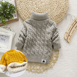 'Comfortable' Turtleneck Winter Baby Sweater