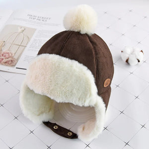 Winter Warm Pompom Baby Hat