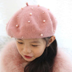 Baby Girl's Pearl Hat
