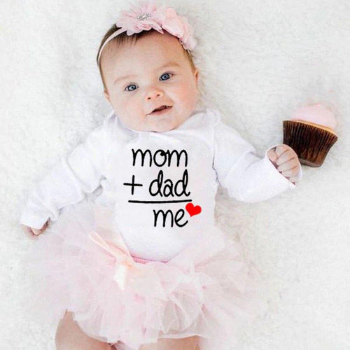 'Mom + Dad = Me' Onesie