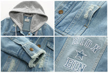 Load image into Gallery viewer, 'Jean' Hooded Denim Jacket