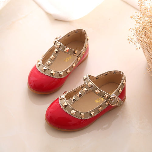 'Comfy' Baby Girl's Rivet Flat shoes