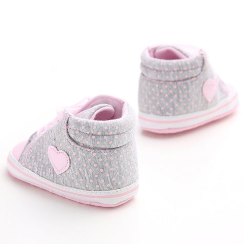 Baby Girl's Polka Dot Canvas Sneakers