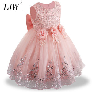 Fascinating Lace Baptism Baby Girl Christmas Outfit