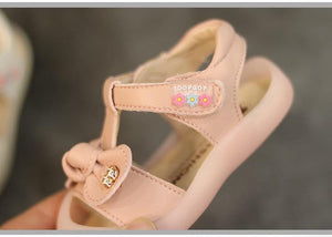 Closed Toe Leather Princess Toddler Sandals