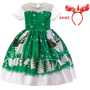 Christmas Fashion Embroidered Princess Wedding Outfit