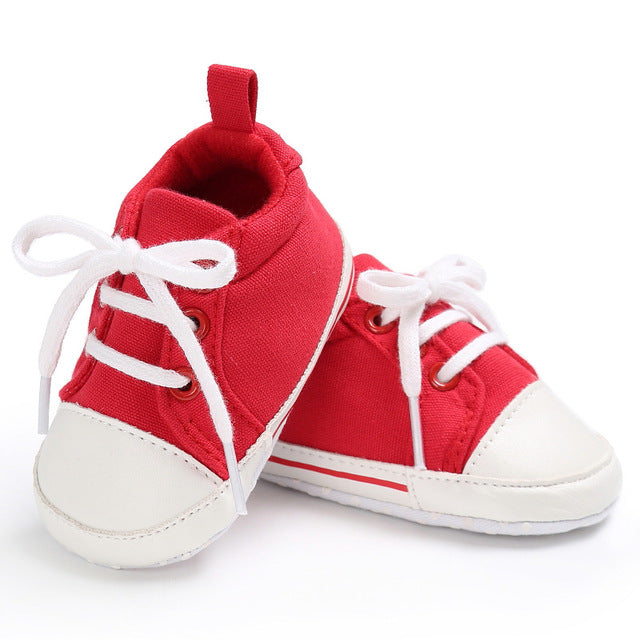 Toddler Canvas Crib Sneaker Shoes
