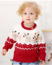 Load image into Gallery viewer, Infant Long Sleeves Knitted Jumper Christmas Outfits