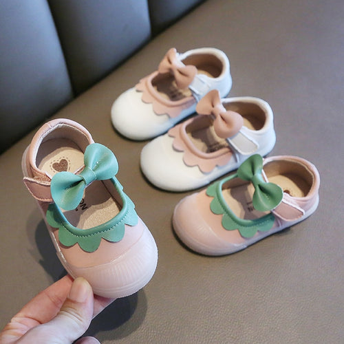 Leather Bow-Knot Comfortable Little Girl Shoes