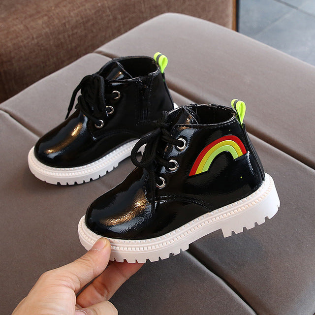 Rainbow Non-slip Bottom Martin Boots