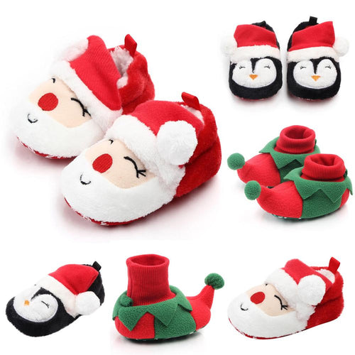 Comfortable Mixed Colors  Christmas First Walkers Shoes