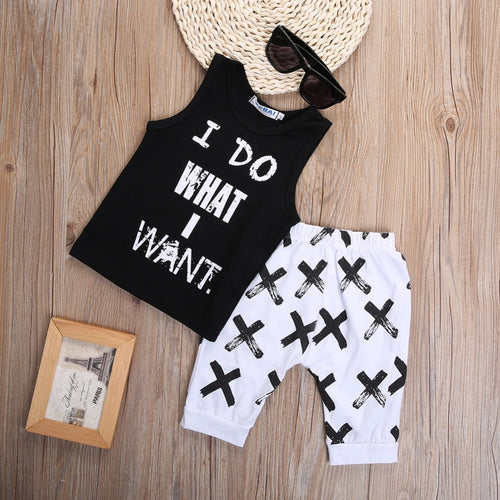 'I DO WHAT I WANT'  Thrilling 2-pc Tank + Harem Pant Set