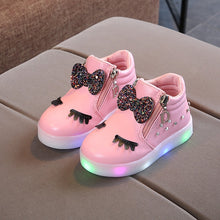 Load image into Gallery viewer, Baby Girls Glowing Sneakers