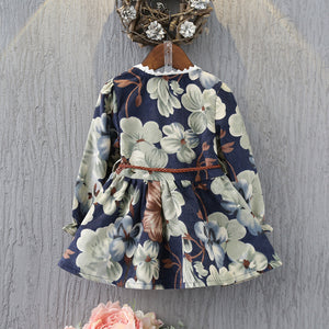 'Pearl' Belted Toddler Twirl  Dress