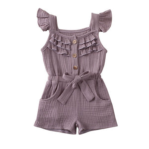 Toddler Girls 'Frills' Soft Romper