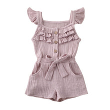 Load image into Gallery viewer, Toddler Girls 'Frills' Soft Romper