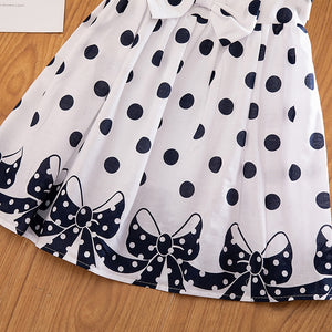 Toddler 'Polka' Flowing Bow Dress
