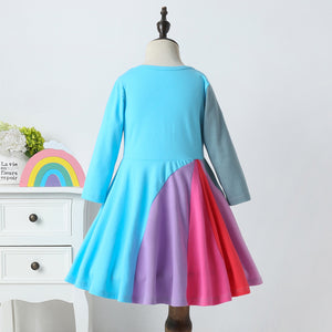 'Jubilance' Long Sleeve Twirl Dress