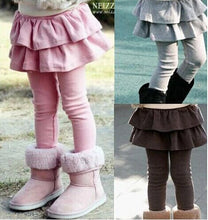 Load image into Gallery viewer, Baby Girl's Dual Layer Skirt Pants