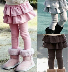 Baby Girl's Dual Layer Skirt Pants