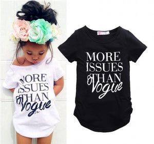 Baby Girl 'Vogue' Fashion Short Sleeve Shirt
