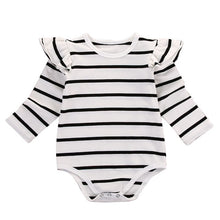 Load image into Gallery viewer, Infant Baby Long Sleeve Striped Rompers