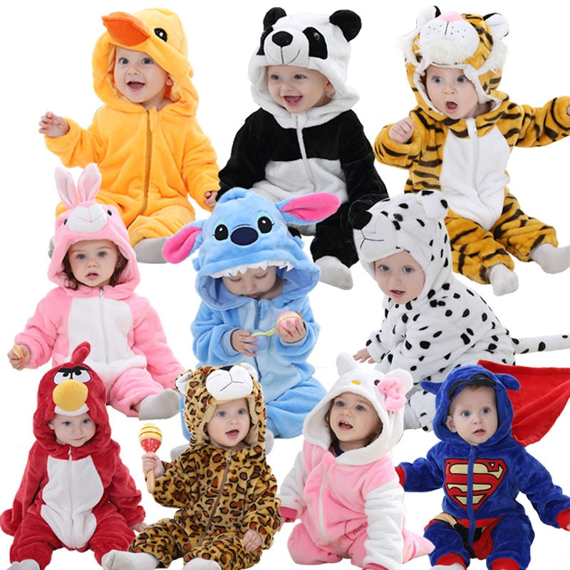 Winter Warm Animal Baby Pajamas