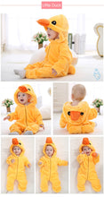 Load image into Gallery viewer, Winter Warm Animal Baby Pajamas
