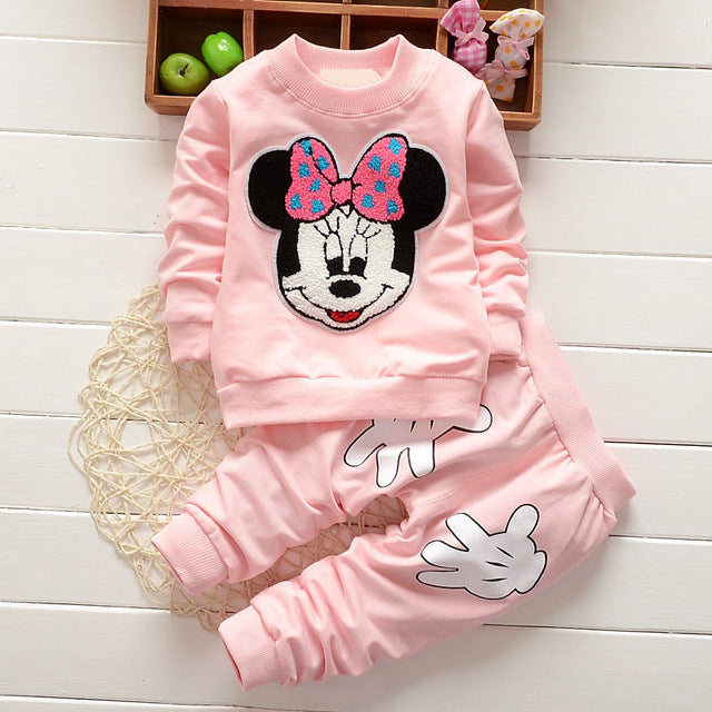 Newborn Baby Girls Cartoon Jogging Suits