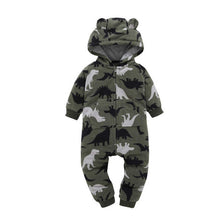 Load image into Gallery viewer, Boys Romper Hooded Jumpsuit